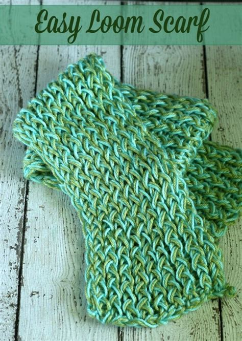 easy loom knitting projects 25 best ideas about loom knitting scarf on