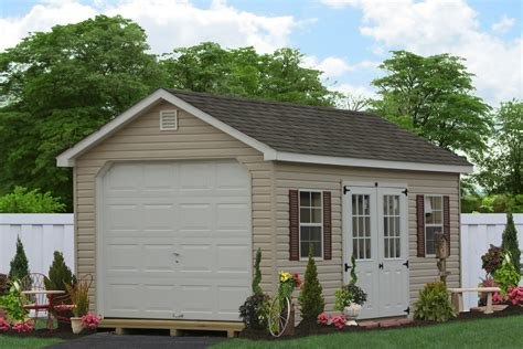 single car garage classic one story garages single car storage sheds