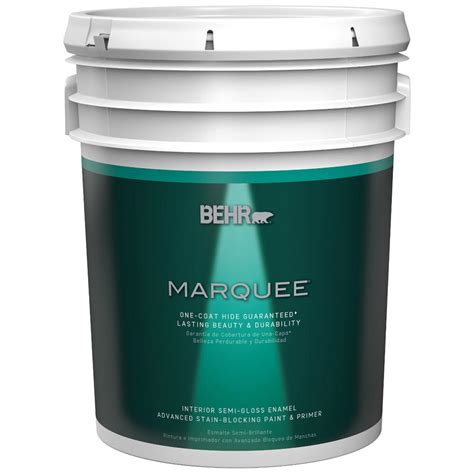 home depot behr marquee paint colors behr marquee 5 gal ultra white semi gloss enamel