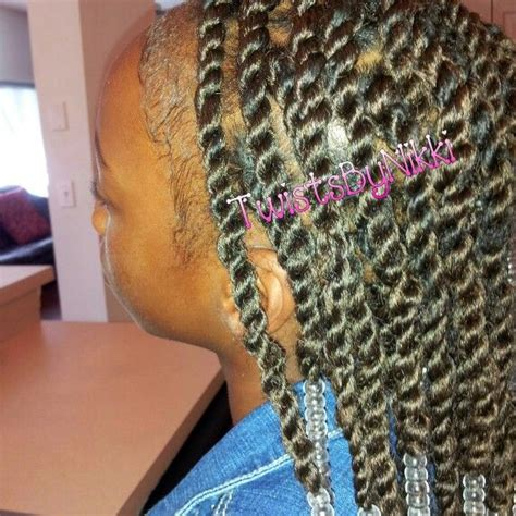 how to put on braids with rubber bands twists using my rubber band method fb