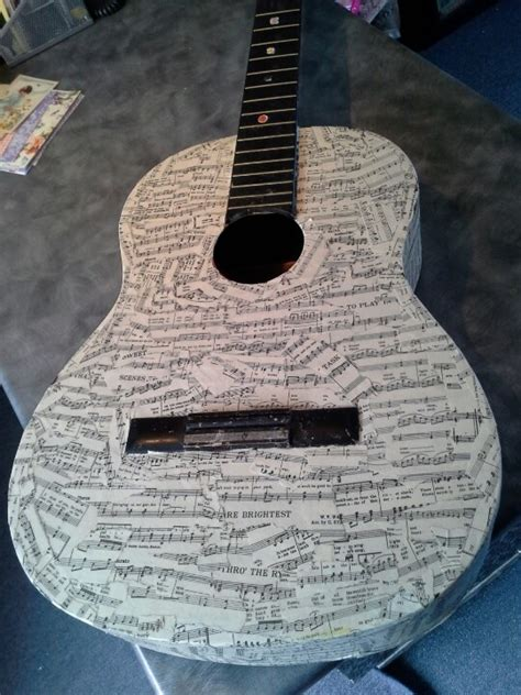 how to decoupage a guitar 28 best images about decorated guitars on rock