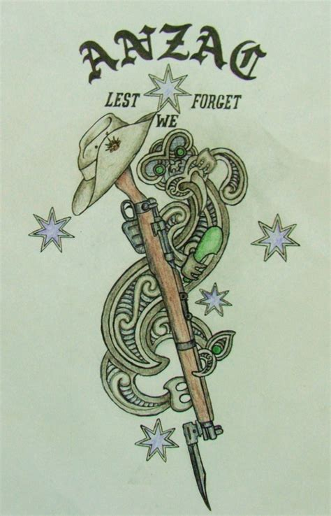 anzac tatto design by savagewerx on deviantart