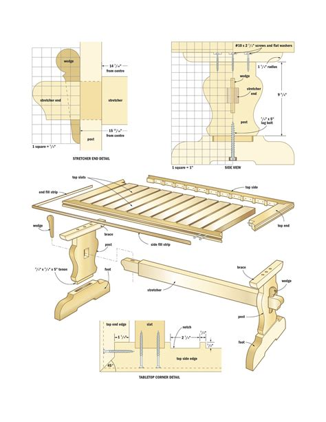 free woodworking plans free trestle table plans woodworking image mag