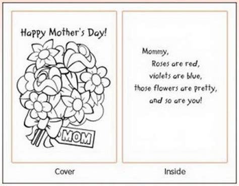 Easy Printable Mothers Day Cards Ideas For Family