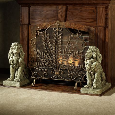 decorative fireplace ideas vintage fireplace screens with doors for family room