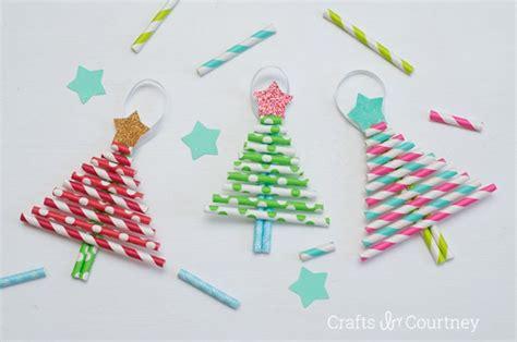 paper straw crafts diy ornaments pretty paper straw trees