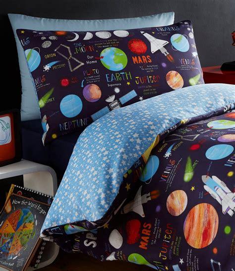 solar system bedding set planets space ship rocket solar system reversible duvet