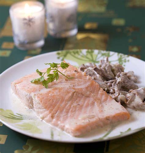 pav 233 de saumon aux girolles les meilleures recettes de cuisine d 212 d 233 lices