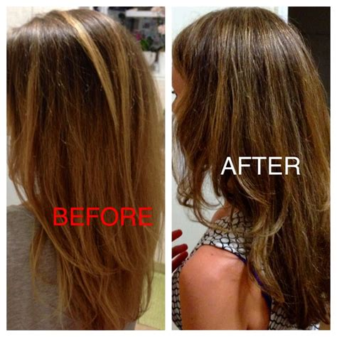after ends before split ends and quot quot ombre after amazing