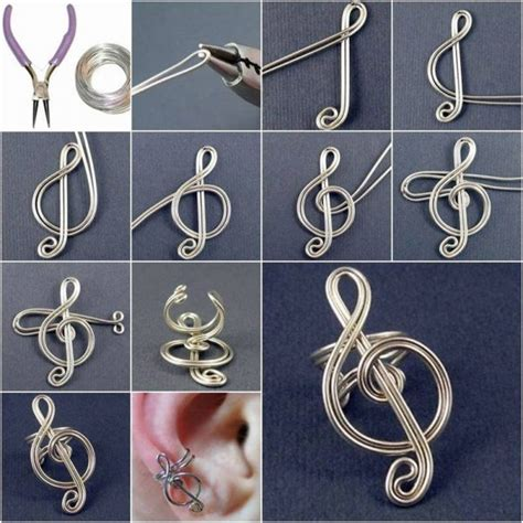 craft wire projects diy craft project treble clef ear cuff find