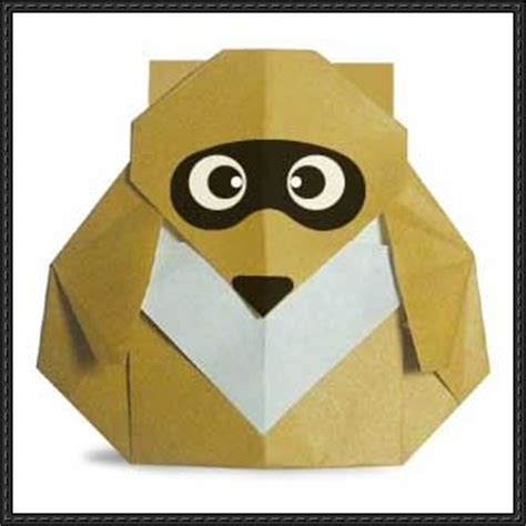 origami raccoon papercraftsquare new paper craft how to make a