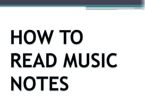 how to read a how to read notes