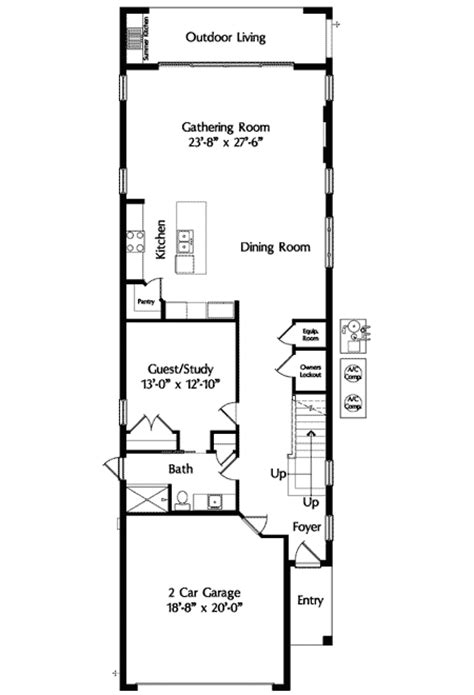 narrow homes floor plans narrow lot mediterranean house plan 42823mj 2nd floor