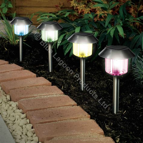 solar power outdoor light 12 x colour changing solar power light led post outdoor