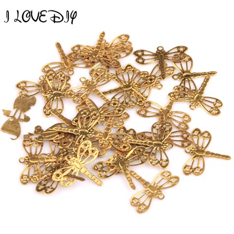 wholesale charms for jewelry wholesale 100pcs gold plated dragonfly charms pendants