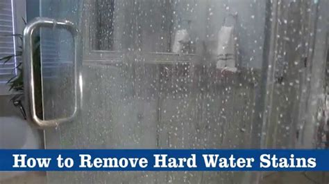 remove water stains from glass shower door how to remove water stains using bkf