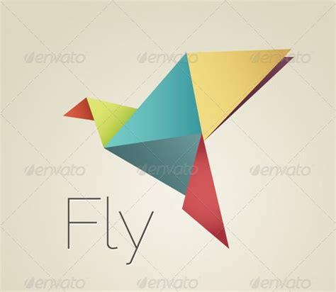 origami bird template colorful origami bird origami birds fonts and logo