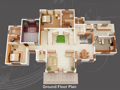 House Plan 3d evens construction pvt ltd 3d house plan 20 05 2011