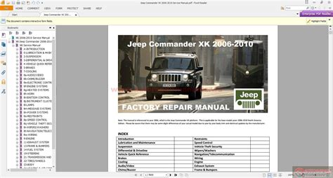 service manual 2010 jeep commander workshop manual download service manual 2007 jeep