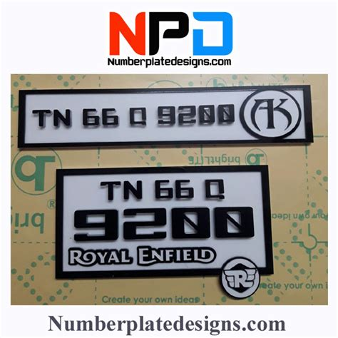 Modified Bike Registration by Number Plate Designs For Bikes India Best Plate 2018