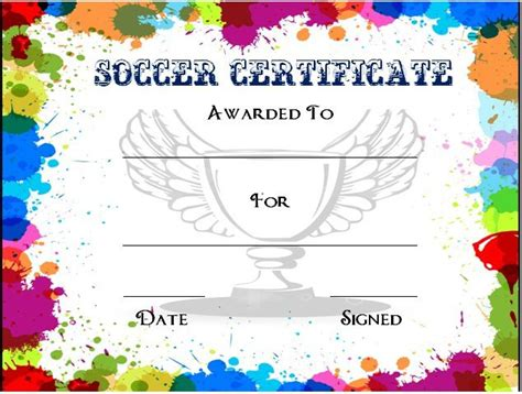 30 soccer award certificate templates free to download