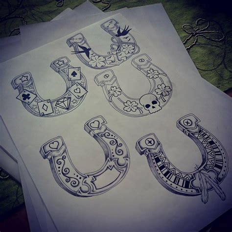 horseshoe tattoo by kohlmeisen on deviantart