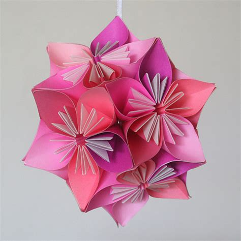 how to make a small origami flower items similar to small pink kusudama origami flower