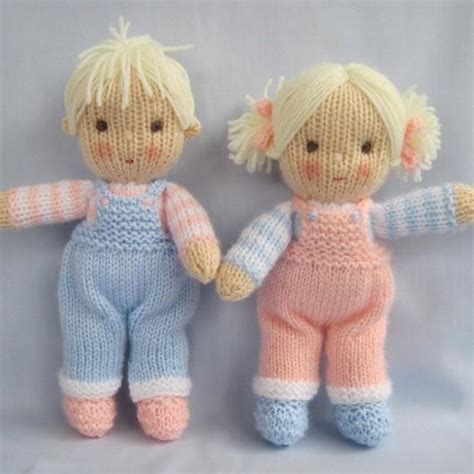 free printable doll knitting patterns and knitted dolls knitting pattern by