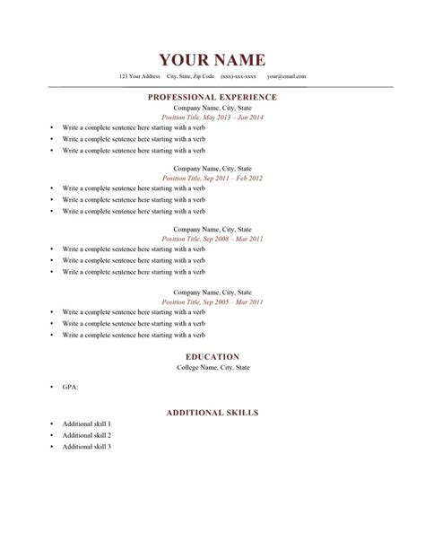 resume exaples free resume samples amp writing guides for all