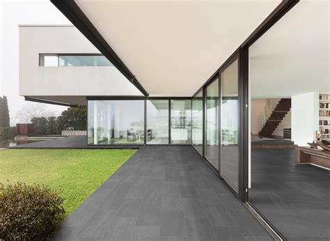 modern patio tiles modern patio with grey porcelain tile modern patio