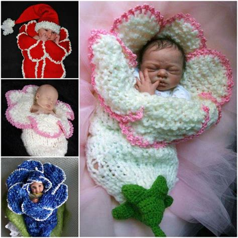 how to knit a flower for a baby hat wonderful diy knitted bell flower baby cocoons