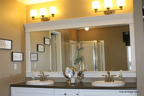 bathroom mirror frame ideas of great ideas how to upgrade your builder grade