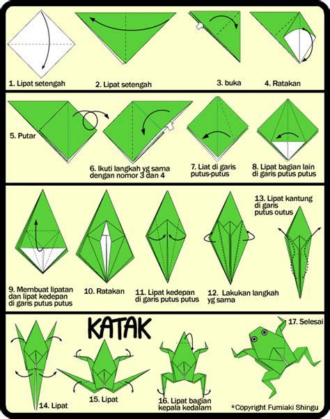 katak origami membuat origami katak bisa loncat untuk anak