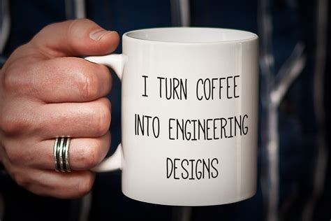 Engineer Mug Gift for Engineer I Turn Coffee into ENGINEERING