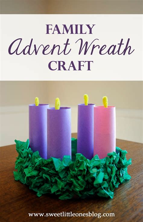 advent crafts for sweet ones advent wreath craft