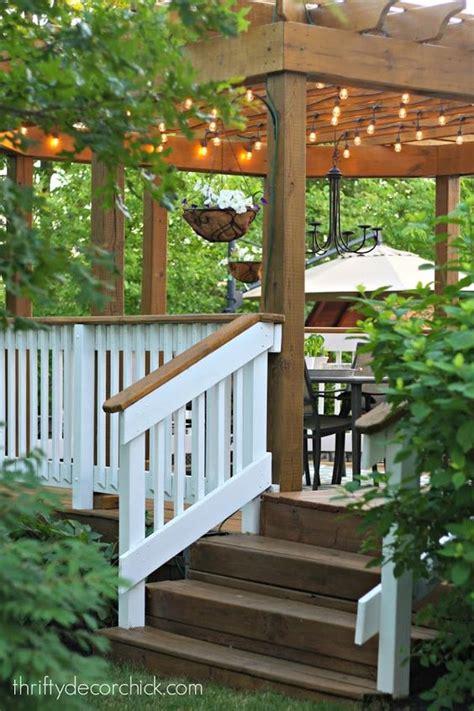 pergolas for decks deck with pergola railings and thrifty decor on