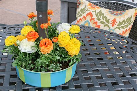 outdoor table centerpieces patio table umbrella centerpiece