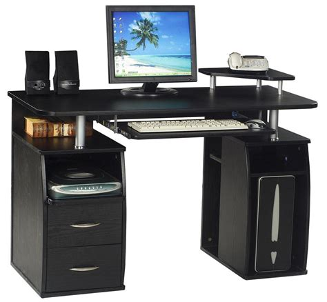 computer table home office furniture pc desk black new ebay