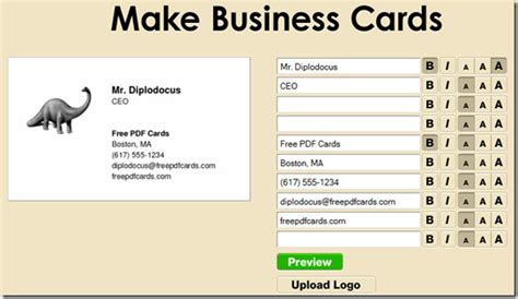 how to make a free business card how to design make and print business cards for free
