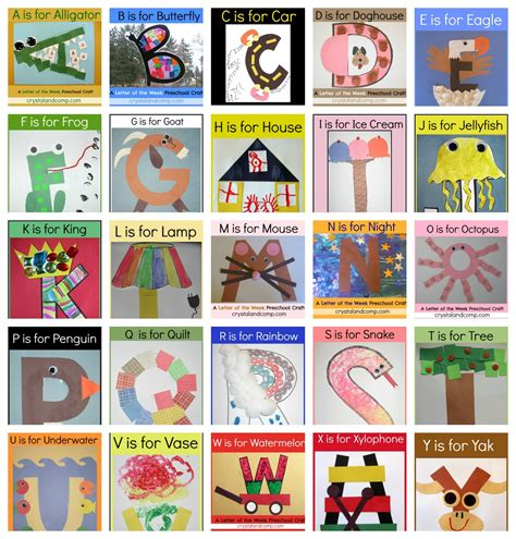 alphabet crafts for letter of the week crafts