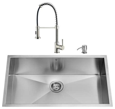 modern undermount kitchen sinks vigo industries vigo undermount stainless steel kitchen