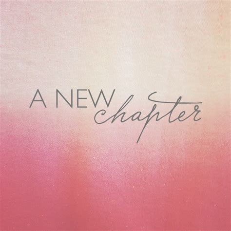 new chapter new chapter