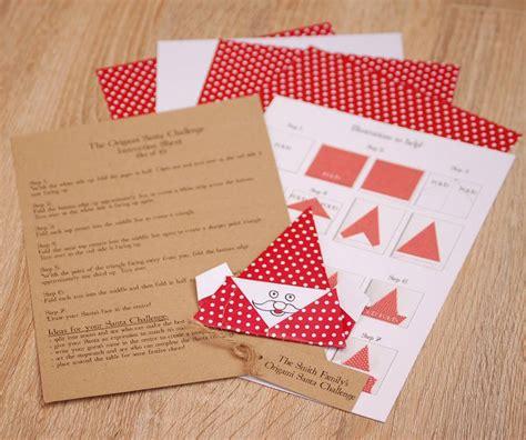 origami challenge origami santa challenge by vintage twee