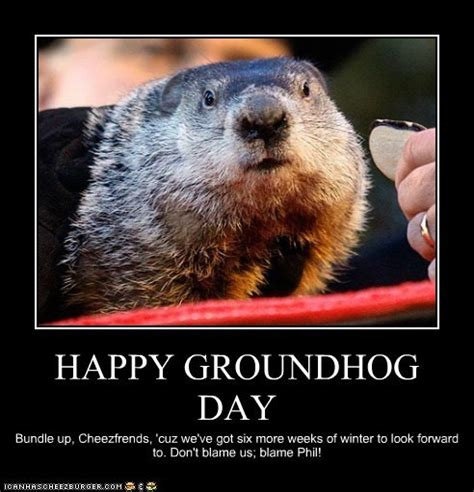 groundhog day you speak speak of the attack of the groundhogs