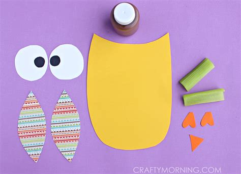 owl craft for celery sted owl craft for crafty morning