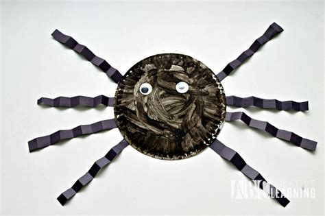 paper plate spider craft paper plate spider craft abc creative learning