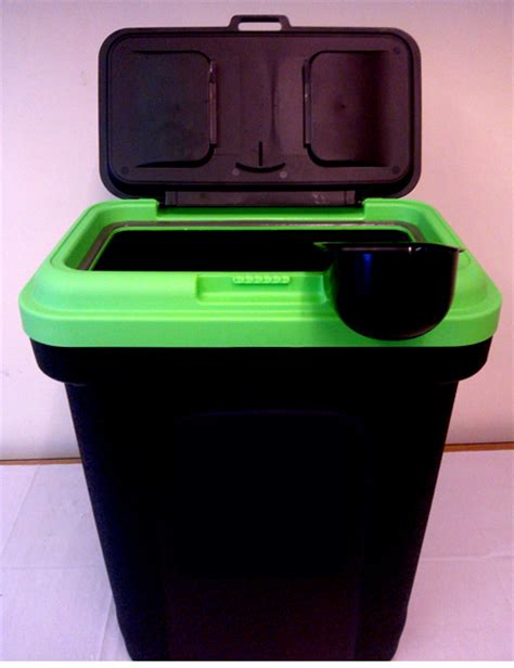 rubber st storage containers pet food storage container black holds 15 5kg green lid