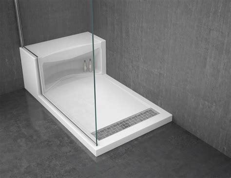 bathroom shower bases solid surface shower base with seat design