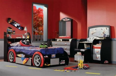 race car bedroom furniture cars beds decorating design