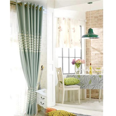 rustic living room curtains light blue embroidery rustic living room curtain